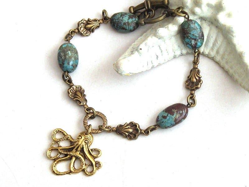 octopus charm bracelet
