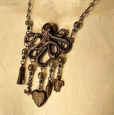 octopus themed necklace