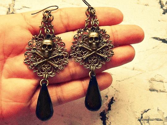 black pirate earrings for her