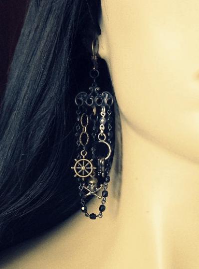 statement pirate earrings for women